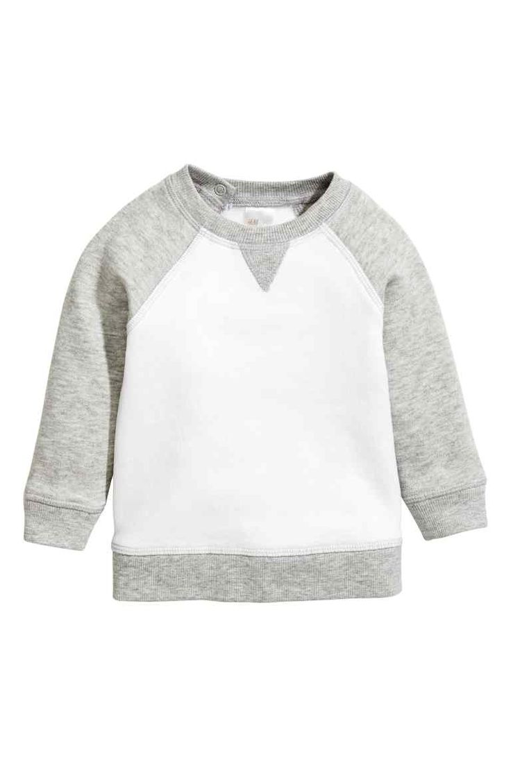 Sweatshirt - White/Grey  | H&M £6