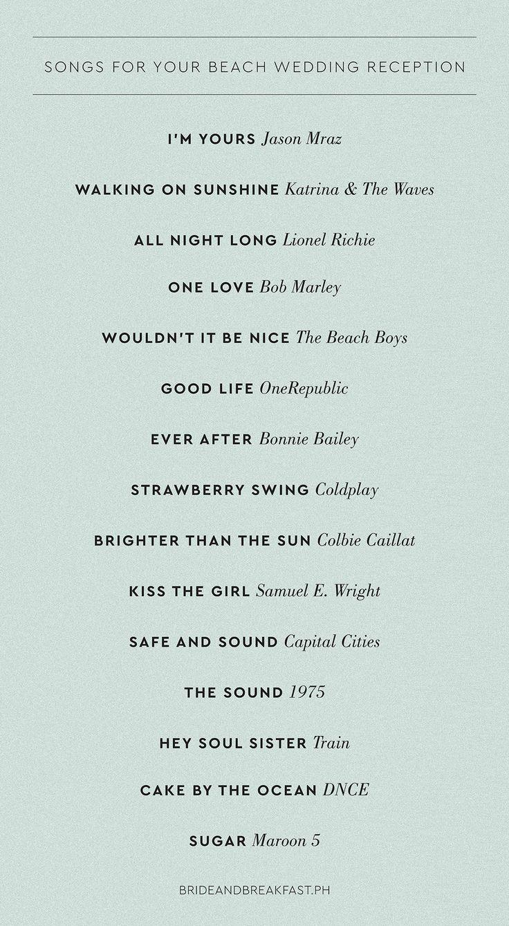 Best 25 Wedding reception playlist ideas on Pinterest  Wedding songs reception Wedding