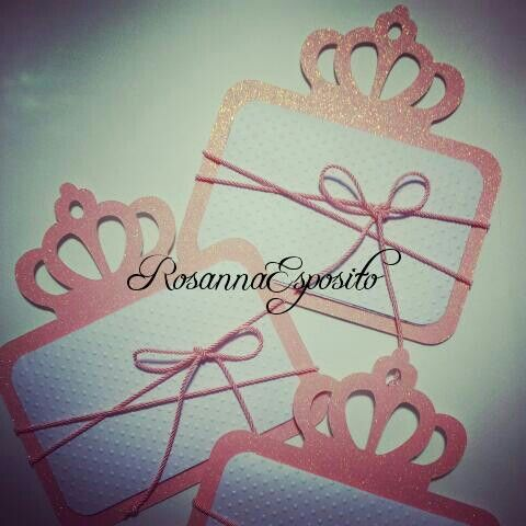 Una partecipazione principesca....unica e sbrilluccicosa!!! #rosannadesigner #invitations #partecipazionipersonalizzate