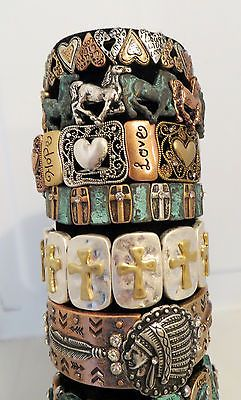 COWGIRL Bling BRACELET HORSES EQUINE LOVER Patina Tri tone stretch GYPSY WESTERN our prices are WAY BELOW RETAIL! ALL JEWELRY SHIPS FREE! baha ranch western wear ebay seller id soloedition www.baharanchwesternwear.com