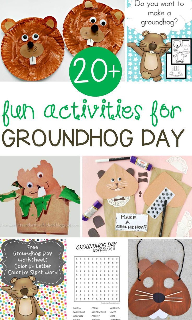 Such a fun collection of Groundhog Day activities for kids! Tons of fun Groundhog Day crafts, printables, and activities for Kindergarten and 1st grade.