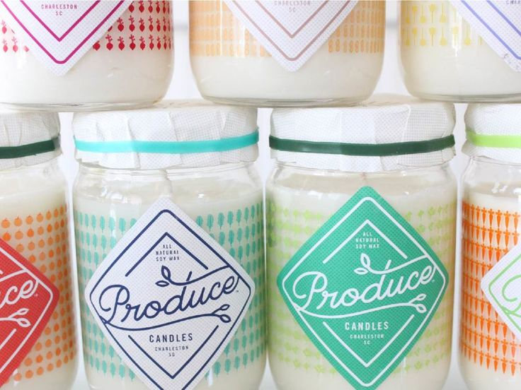 Produce Candles — The Dieline