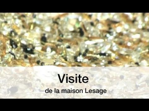 Visite de la maison Lesage....See how skillful Artisans do their extraordinary work on beautiful gowns. B.
