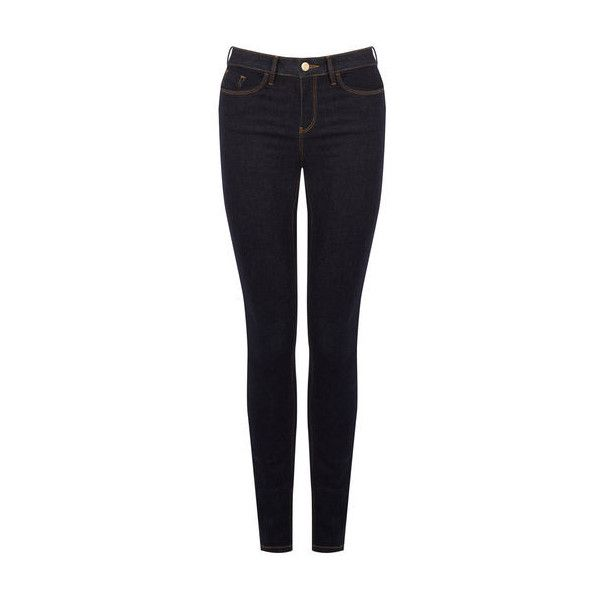 Warehouse Longer Length Powerhold Skinny ($66) ❤ liked on Polyvore featuring jeans, dark wash denim, zipper jeans, super skinny jeans, skinny fit jeans, 5 pocket jeans and zipper skinny jeans