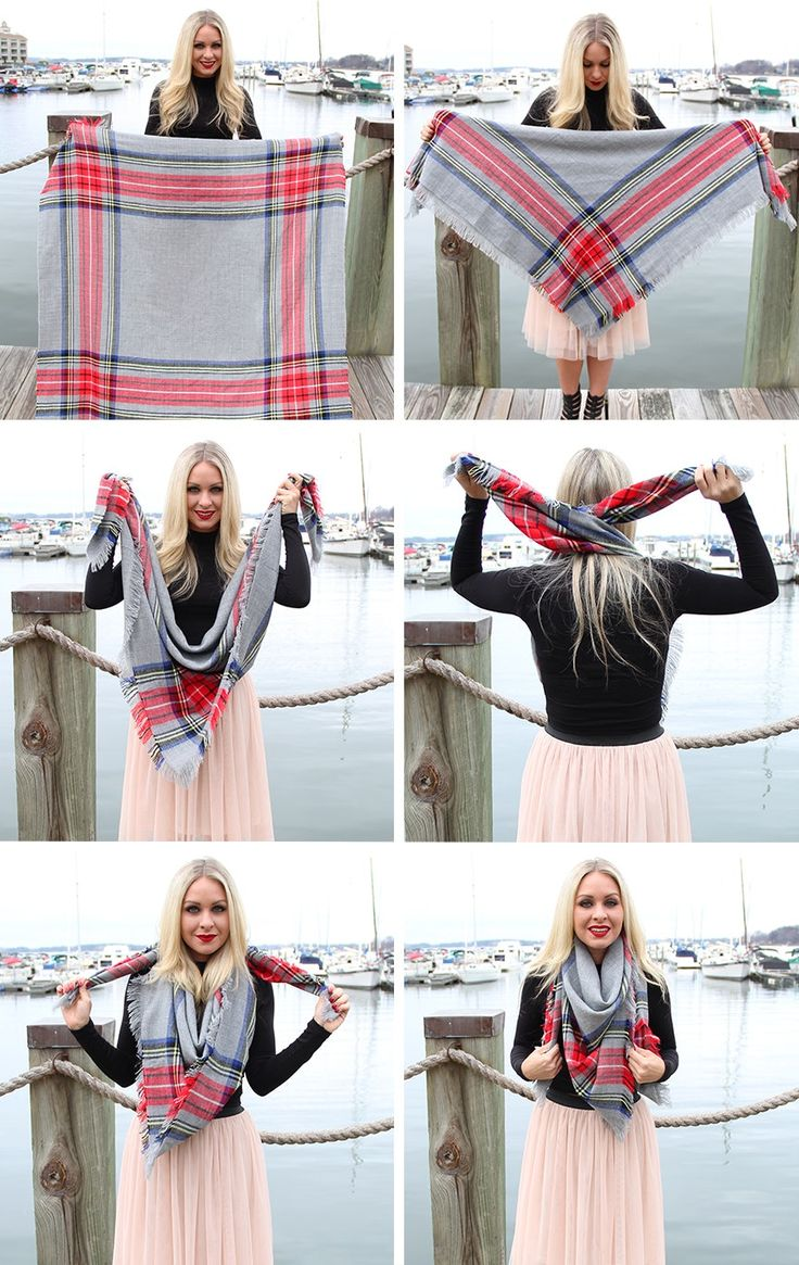 How To Tie A Blanket Scarf In 9 Stunning & Unique Ways — PHOTOS