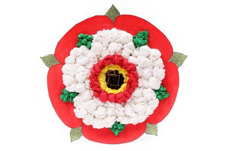 How to make Tudor rose art #schoolprojects #history #Tudor