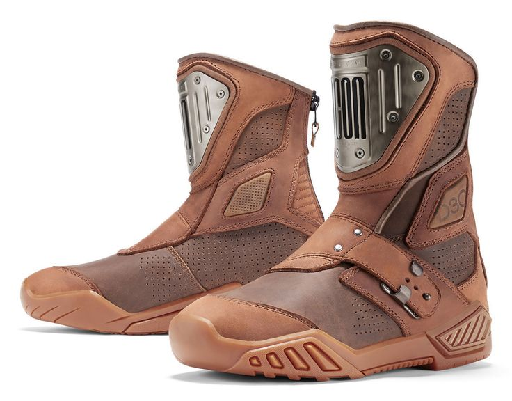 ICON 1000 RETROGRADE CE Certified Leather Motorcycle Boots (Brown) US 13
