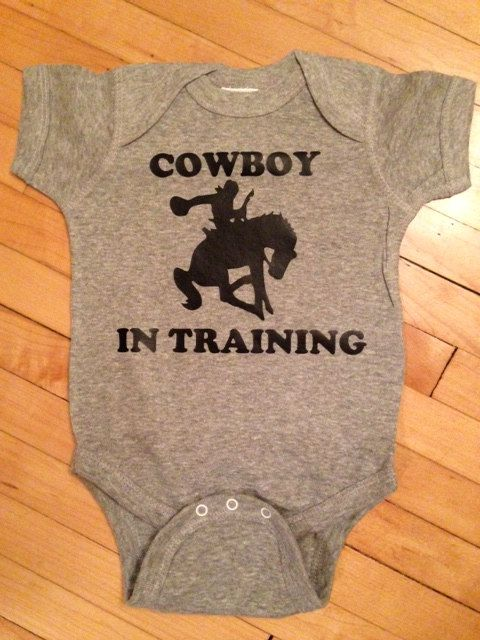 Cute Cowboy In Training Baby Body Suit One Piece Creeper. Onesie. on Etsy, $13.00