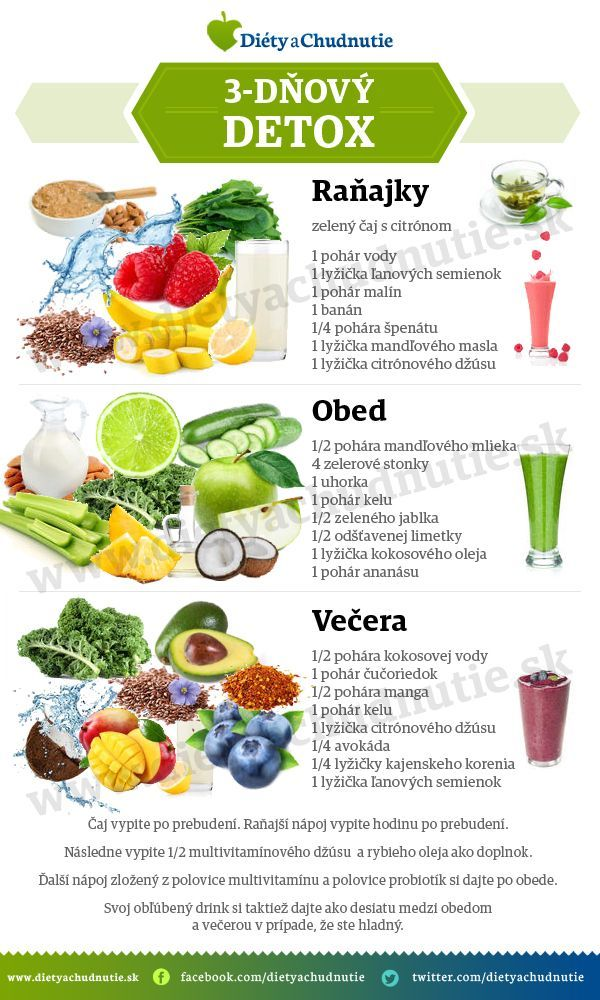 3-dňový detox - Ako schudnúť pomocou diéty na chudnutie