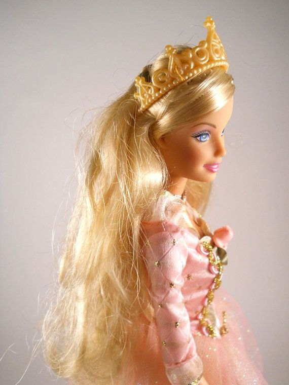 Good Morning Princess In Russian : Princess barbie doll pink crown vintage by