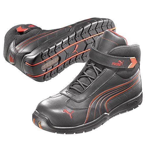 Puma Safety Shoes Daytona Mid S3 HRO SRC, Puma 632160-210 Unisex-Erwachsene Sicherheitsschuhe, Schwarz (schwarz/rot 210), EU 45 - http://on-line-kaufen.de/puma-time/45-eu-puma-safety-sicherheitsschuhe-s3-moto-mid-63