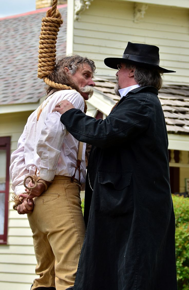 https://flic.kr/p/fmCRmW   Hangman 1   The noose goes around the neck of a suspected bad guy as part of the Cannon Old West Society's reenactment at the Little Log House Pioneer Village near Hastings, Minnesota. No one was actually hung during the reenactment although a few people were shot.