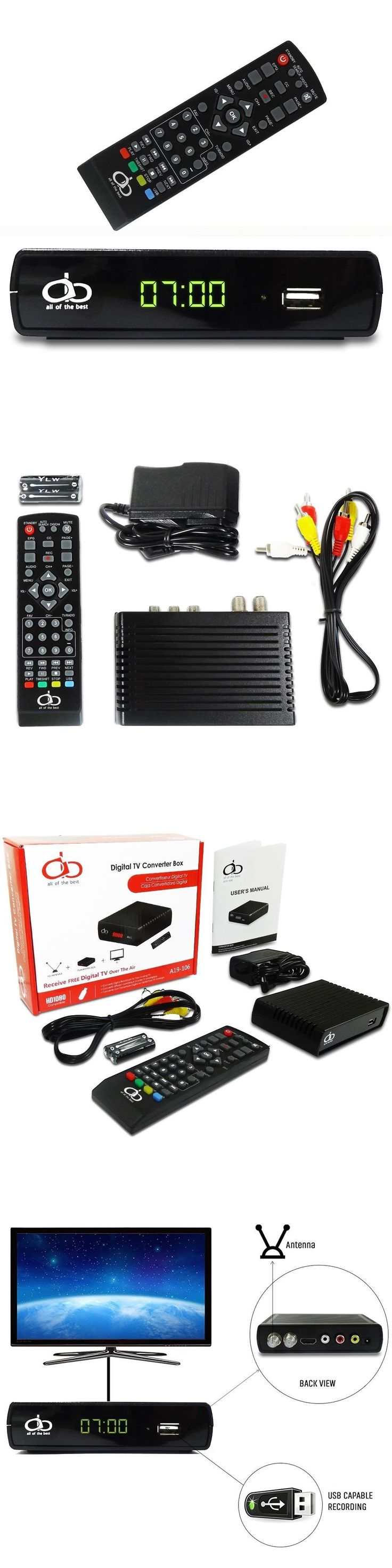 Other TV Video and Audio Accs: Digital Tv Converter Box P19-106 Supports Full Hd Usb With Remote Control And Re -> BUY IT NOW ONLY: $64.3 on eBay!