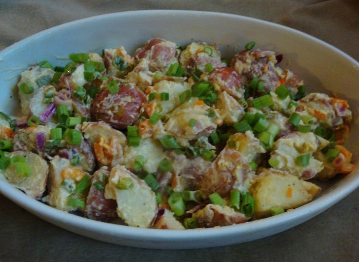 Baby Red Potato Salad. Lowfat and so good. The recipe called for green ...