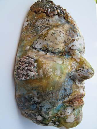 Encaustic Art, Lisa Renner, Artist, Self Portrait Plaster W#210