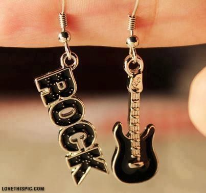 Rock n Roll Earrings jewelry earrings rock rocknroll