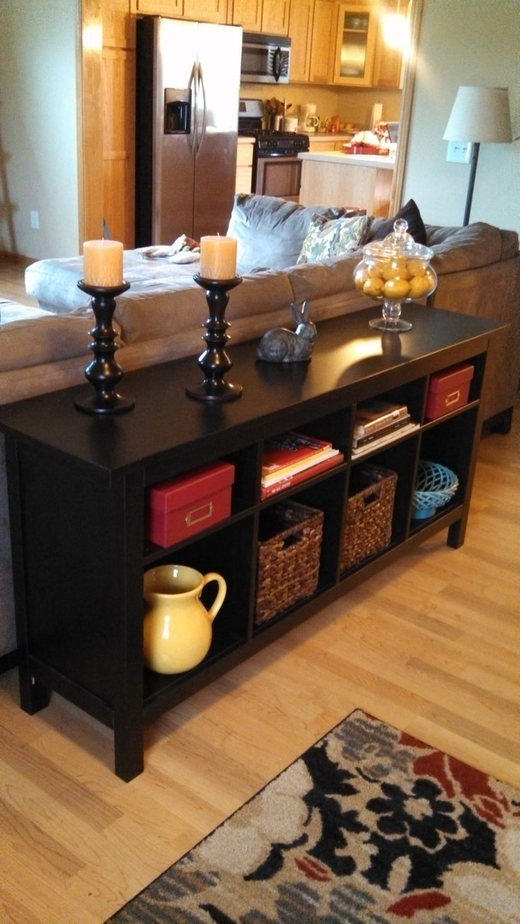 Best Table Behind Couch Ideas On Pinterest Behind Sofa Table