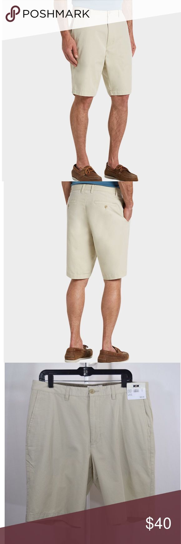 """NWT Men's Joseph Abboud Tan Modern Fit Shorts Men's Joseph Abboud Shorts🔹Light Tan🔹Brand new with tags🔹Modern Fit🔹100% cotton🔹Flat Front🔹Modern Fit🔹Inseam is 10""""🔹Size 36🔹Smoke and pet free home Joseph Abboud Shorts Flat Front"""