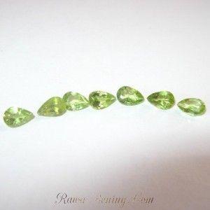 Jual 7 Pcs Permata Peridot Bentuk Pear Shape 3.00 carat