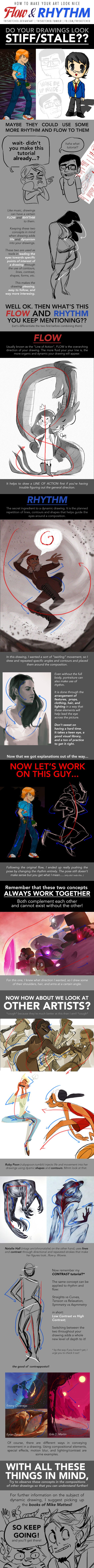 HOW TO MAKE YOUR ART LOOK NICE: Flow and Rhythm by trisketched.deviantart.com on @DeviantArt