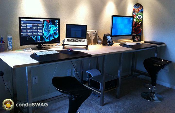 Ikea Vika Amon And Utby Desk Hack Office Pinterest