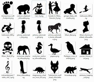 More than 600 free silhouette SVG Cliparts