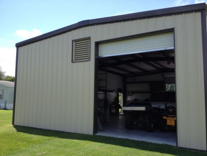 Pre engineered metal building storage shed pre for Pre engineered garage