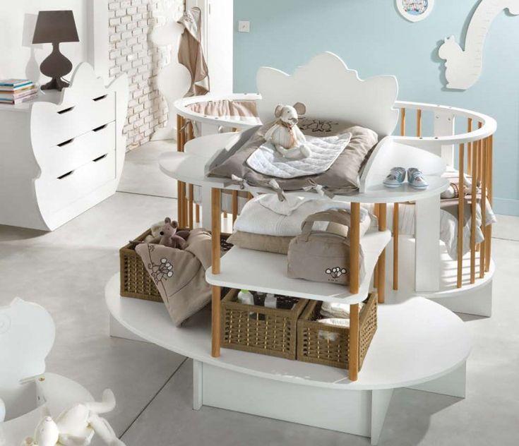 17 meilleures id es propos de berceaux de b b sur pinterest chambre b b lits de b b et for Mobilier chambre bebe originale