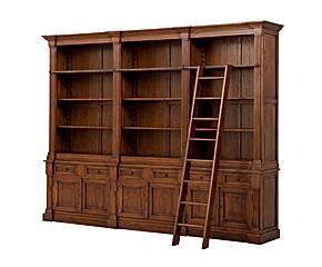 25 beste idee n over ladder boekenkast op pinterest boekenkast met ladder keuken boekenplank - Model bibliotheek houten ...
