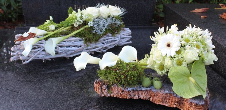 grafstukken modern witte calla