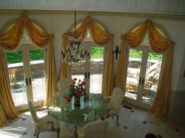 Best Window Treats Arch Openings Images On Pinterest - Arched window coverings window treatments for arch windows ideas