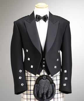 Burns Night is coming. Formal on the cheap.  Discussion of how to make a reasonably good looking formal kilt jacket from gear sold for wait-staff.