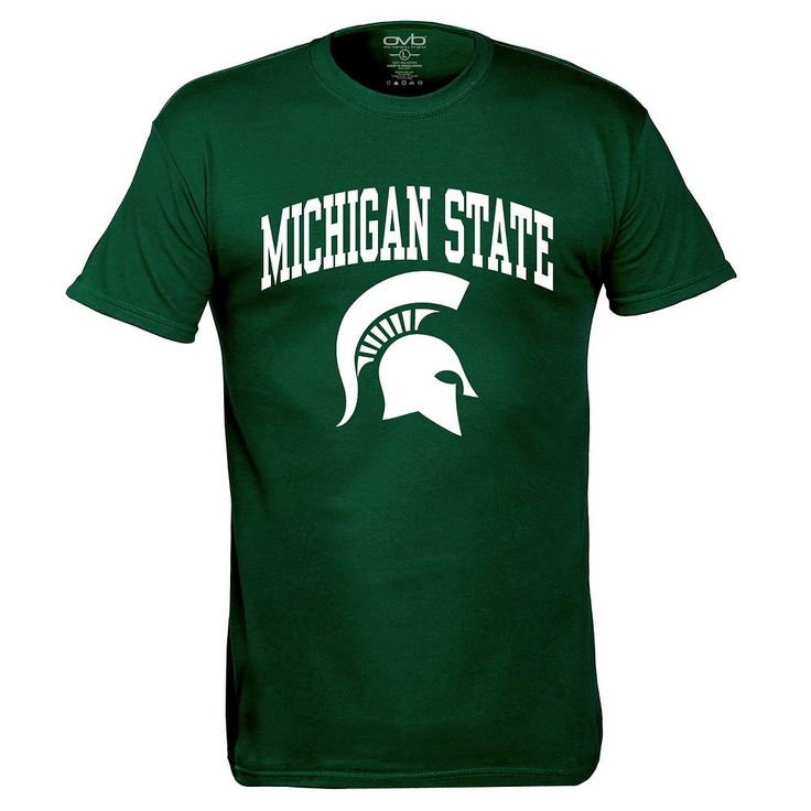 Men's Michigan State Spartans Pride Mascot Tee, Size: Medium, Dark Green