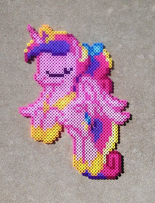 Young+Princess+Cadance+Perler+Bead+Art+by+HexfloogCrafts+on+Etsy,+$15.00