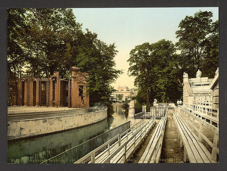Summer theatre at Lazienki, Warsaw, Poland. 1900. Source: U.S. Library of Congress.