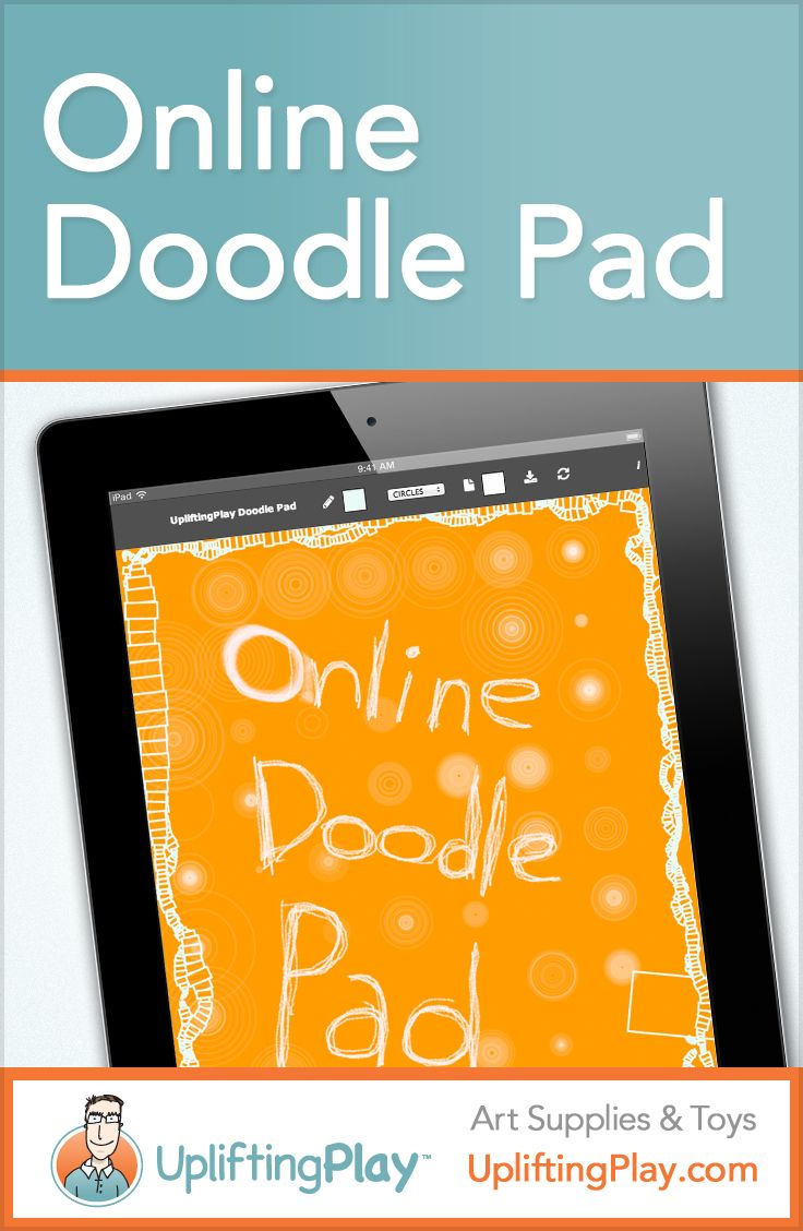 Online Doodle Pad - Sketch and Drawing Pad from UpliftingPlay  — Create a drawing on the Online Doodle Pad. Select from various brush styles and colors. When finished drawing, save your sketch as a picture. Draw Now #drawing #fun #kidsart http://upliftingplay.com/online-doodle-pad/