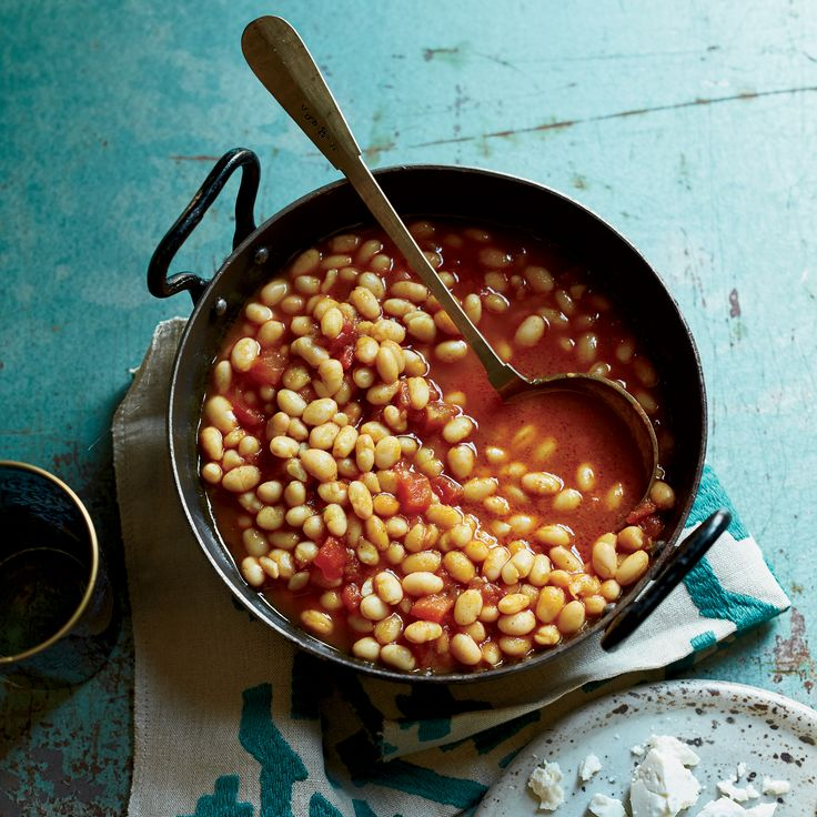 These supereasy-to-make white beans are flavored with tomato and dried lime. Get the recipe from Food & Wine.