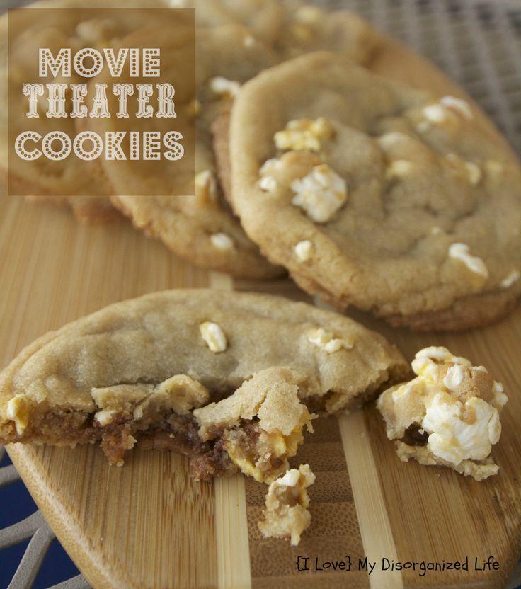 Movie Theater Cookies/ {I Love} My Disorganized Life #cookies #popcorn #milkduds