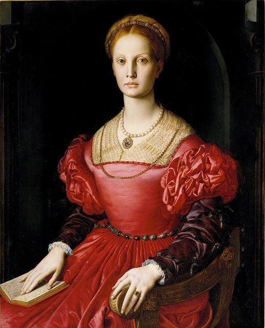 Agnolo Bronzino - Portrait of Lucrezia Panciatichi (1540) - Galleria degli Uffizi, Florence