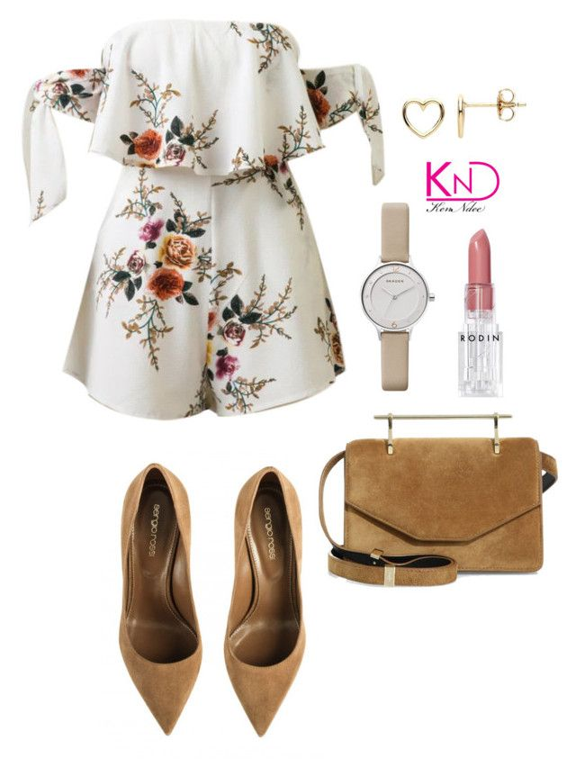 """""""Untitled #3389"""" by kenndee ❤ liked on Polyvore featuring WithChic, M2Malletier, Skagen, Rodin and Estella Bartlett"""