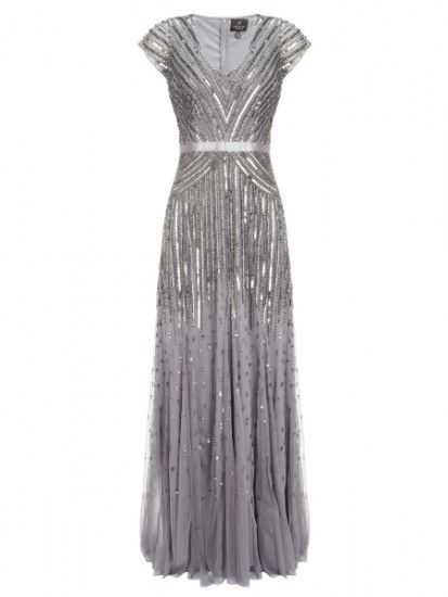 Adrianna Papel Sequin Gown high street bridesmaid dresses for 2015 #silver #bridesmaid #dress