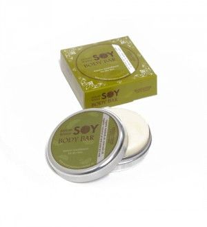 SOY BODY BAR (60ml) A convenient and easy to use moisturising lotion body bar made with organic oils and pure soy wax.