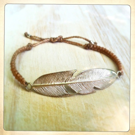 Love this nude color with a handmade sterling featherElle Colors, Sterling Feathers, Colors Crushes, Beads, Handmade Sterling, Nude Colors, Sterling Diamonds