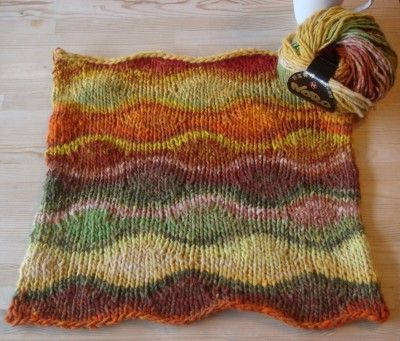 Such a perfect pattern for Noro. I have a couple skeins of this yarn left for a scarf!