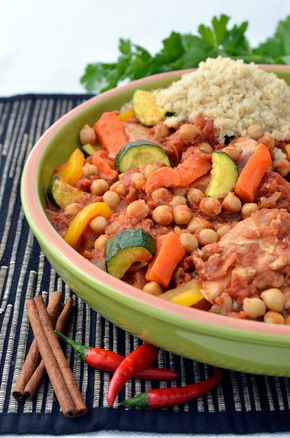 Slow Cooker Moroccan Turkey Tagine - This dish is quick to make, is high in fibre and protein, and is a great full meal!