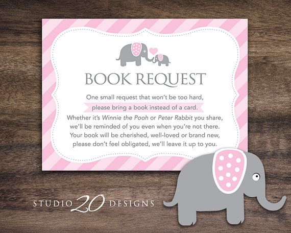 instant download pink elephant book request  elephant book