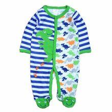 2017 Marca Mamelucos Del Bebé trajes De Algodón Cuerpo Largo Pijamas Mameluco 1 unids Ropa recién nacido Del Niño de UNA pieza de calidad superior(China (Mainland))