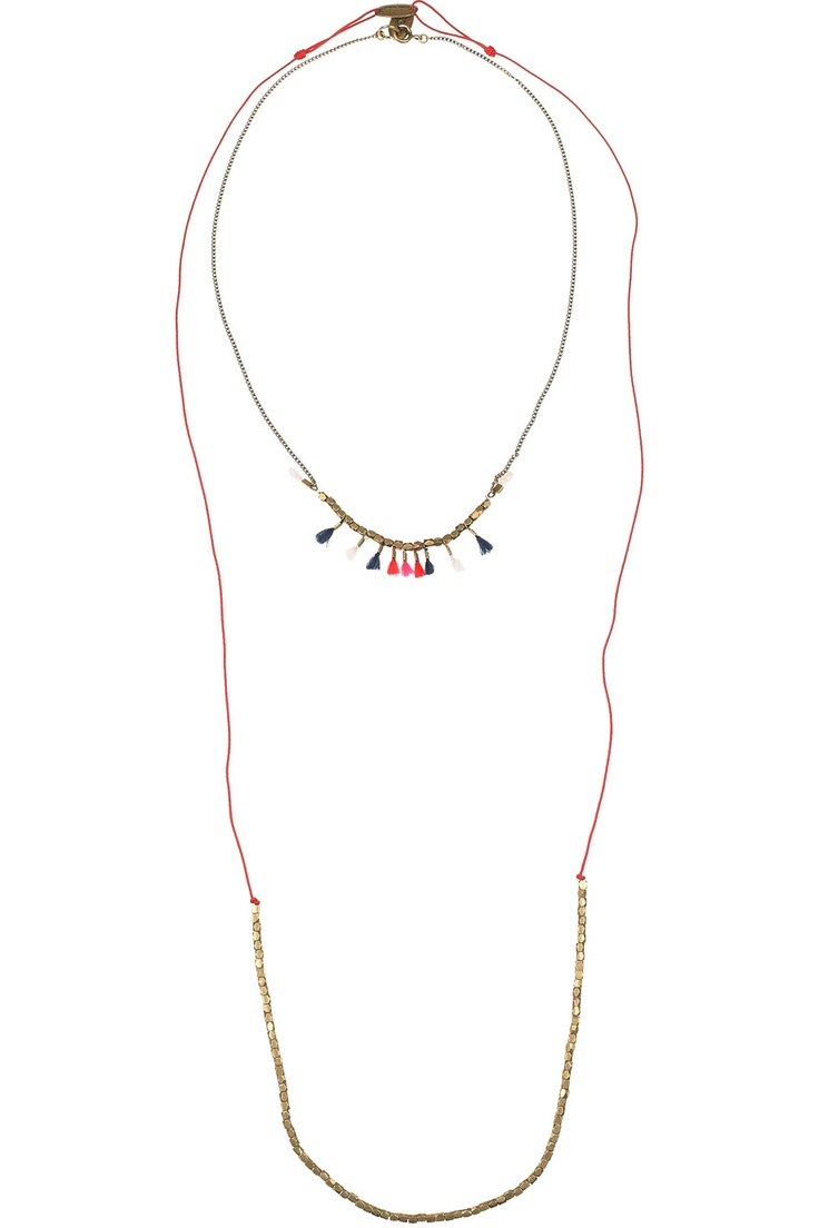 Two necklaces perfectly paired from Isabel Marant. This could be a must-have.