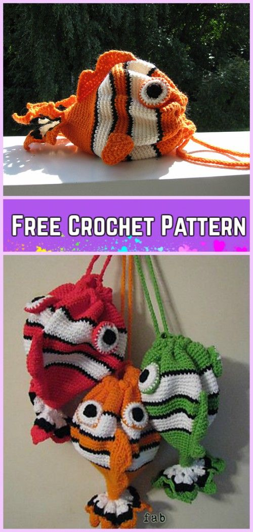 Crochet Fish Bag Free Pattern