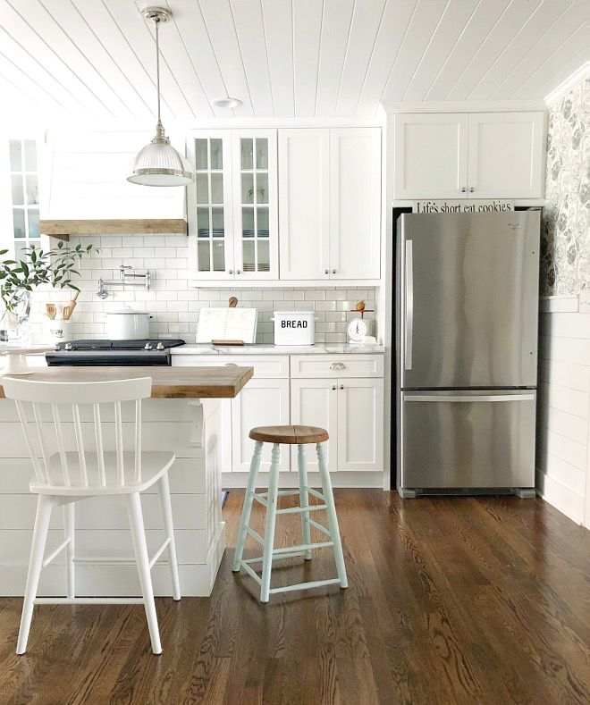 The Cabinet Paint Color Is Sherwin Williams Pure White A Fantastic For Kitchen Cabinets More On Home Bunch Blog